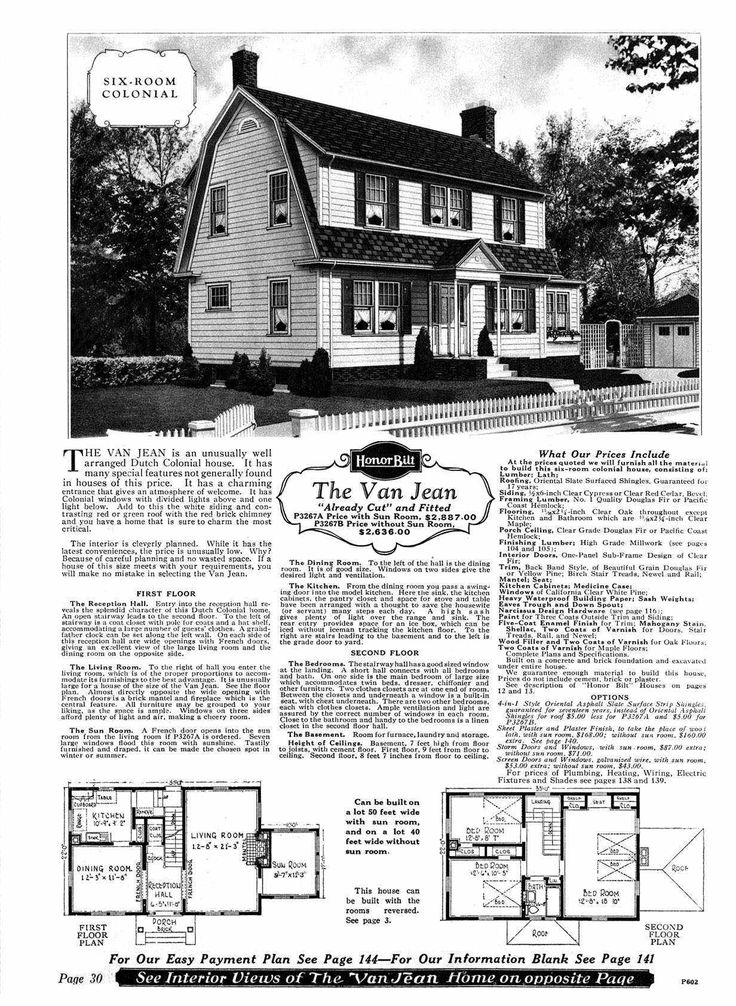 1928 Sears Kit House   Dutch Colonial   The Van Jean