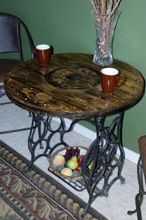 Reclaimed Rustics: Sewing Machine Bistro Table