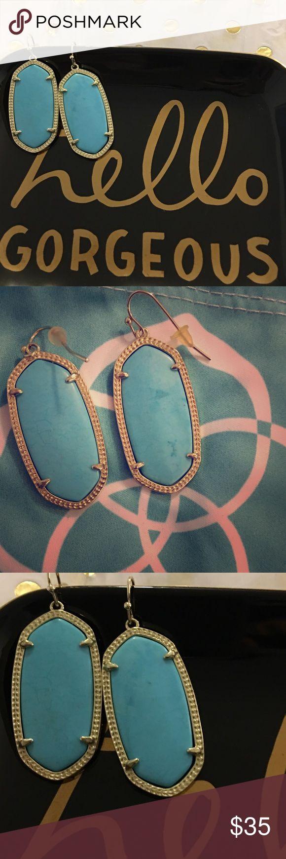 Kendra Scott elle earrings in turquoise Cute Elle earrings in turquoise. Always kept in dust bag. Used Kendra Scott Jewelry Earrings
