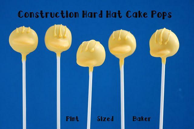 Pint Sized Baker: Hard Hat Cake Pops - Guest Post