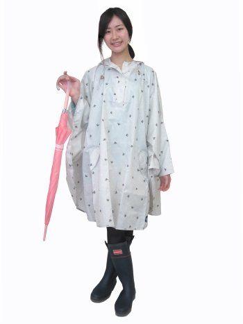 Amazon.co.jp: レインポンチョ レディース 【ツバメ ドッド】(女性用) レインコート レインウェア 雨具 カッパ 自転車用 レインスーツ: 服&ファッション小物