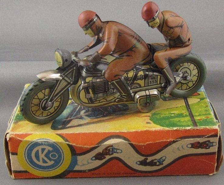 Vintage 1940's CKO Germany 353 Socius Motorcycle Mint in Original Box