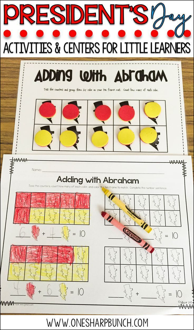 Here S A Great Collection Of President S Day Activities For Kids Including Abraham Lincoln Acti Math Literacy Activities Kindergarten Activities Math Literacy [ 1249 x 736 Pixel ]