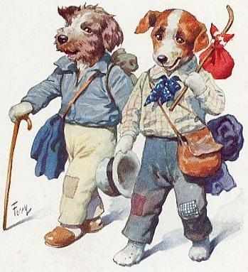 Vintage Animal Illustrations | ... Vintage Holiday Crafts » Blog Archive » Free Vintage Dog Clip Art