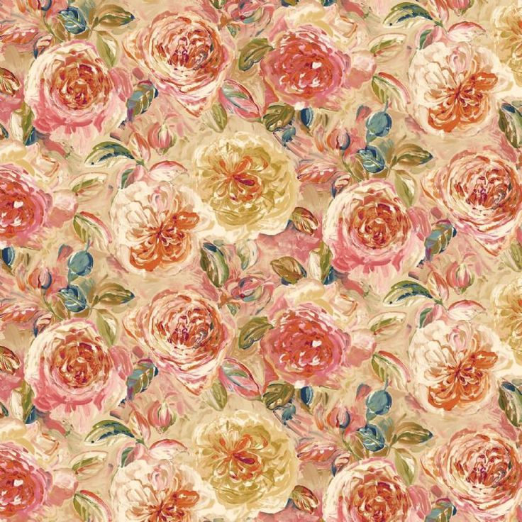Painterly Floral Two - tan
