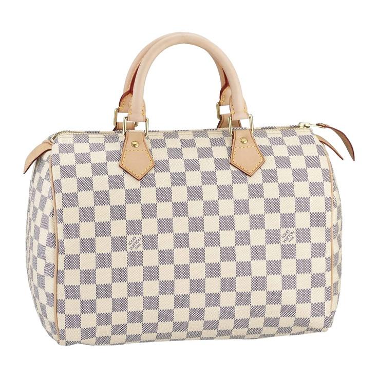Louis Vuitton , Louis Vuitton Damier Canvas Speedy 30 Bag N41533