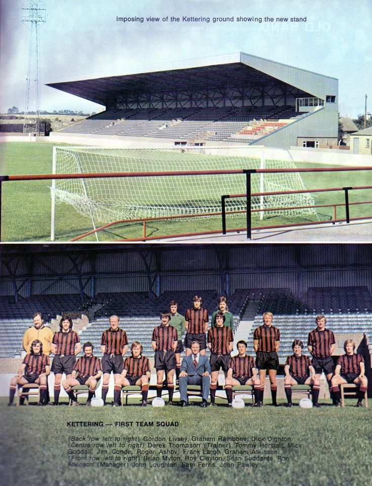 Kettering Town in the 1970s.