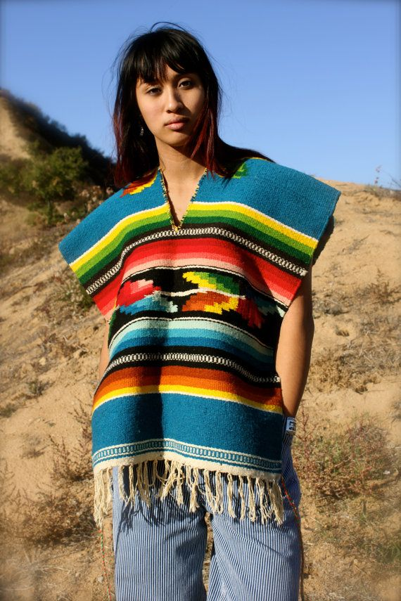small awesome handwoven handmade mexican blanket poncho 60s 70s on etsy mexican. Black Bedroom Furniture Sets. Home Design Ideas