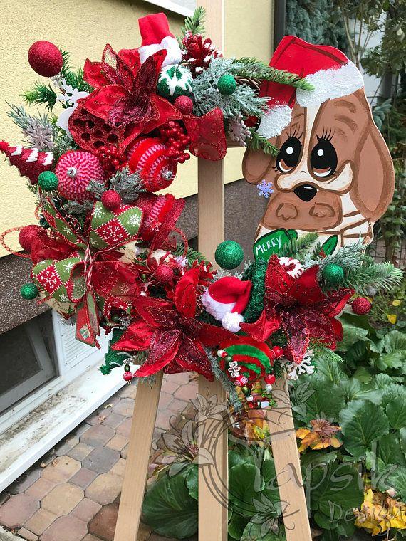 Christmas Wreath Front Door Wreath Christmas Home Decor