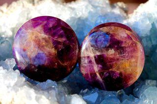 Amethyst Stone Plugs - AA Grade