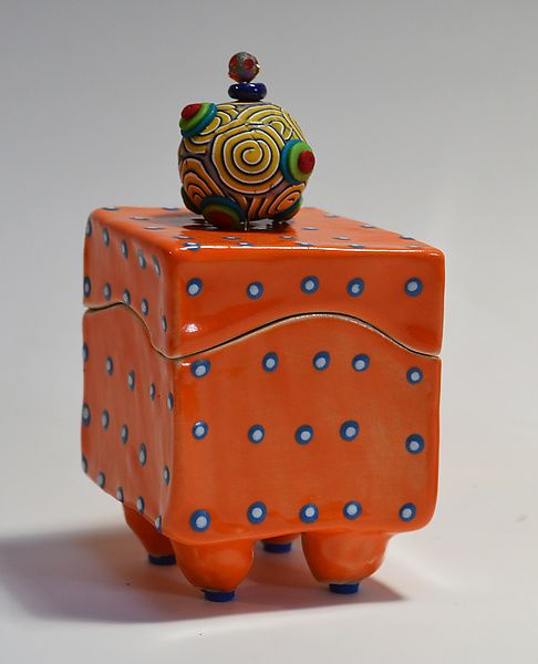 Orange Box: Vaughan Nelson: Ceramic Box   Artful Home