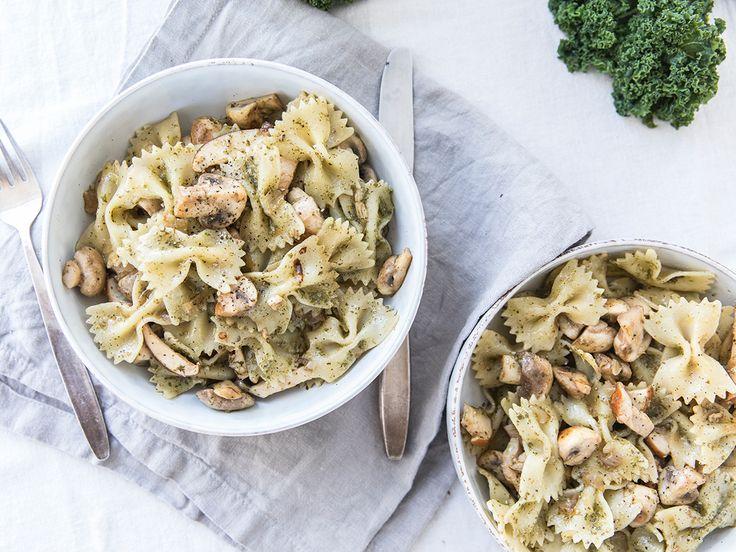 Boerenkoolpesto? Ja, zeker! In plaats van de gebruikelijke basilicum voeg je boerenkool aan je pesto toe. Heerlijk als saus voor een lekkere pasta!