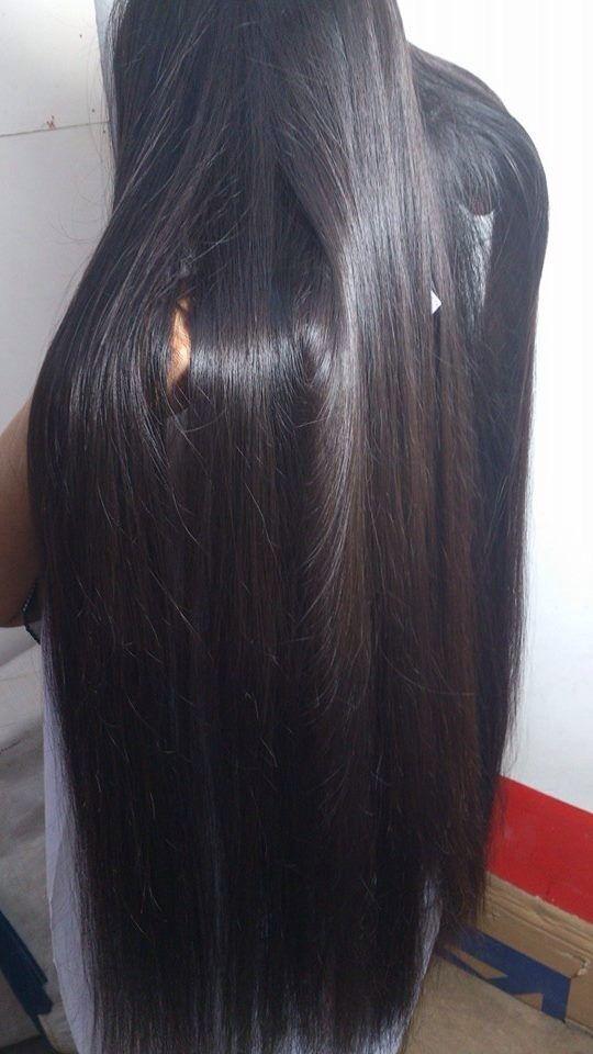 cabello lacio y largo