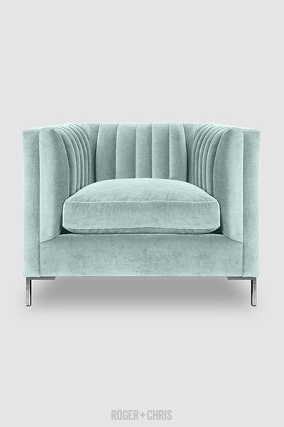 Mid-Century Modern Channel-Tufted Shelter Sofas, Armchairs, Sectionals   Harley