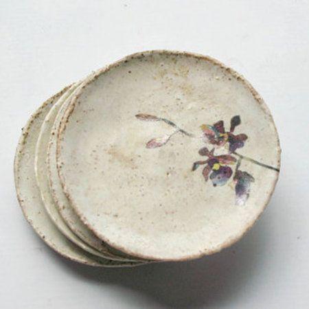 handmade ceramic orchid bowls