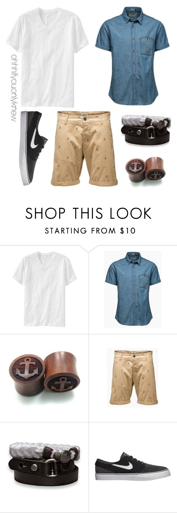 """""""Untitled #200"""" by ohhhifyouonlyknew ❤ liked on Polyvore featuring Old Navy, Jack & Jones, Abercrombie & Fitch, NIKE, tomboy and dyke"""