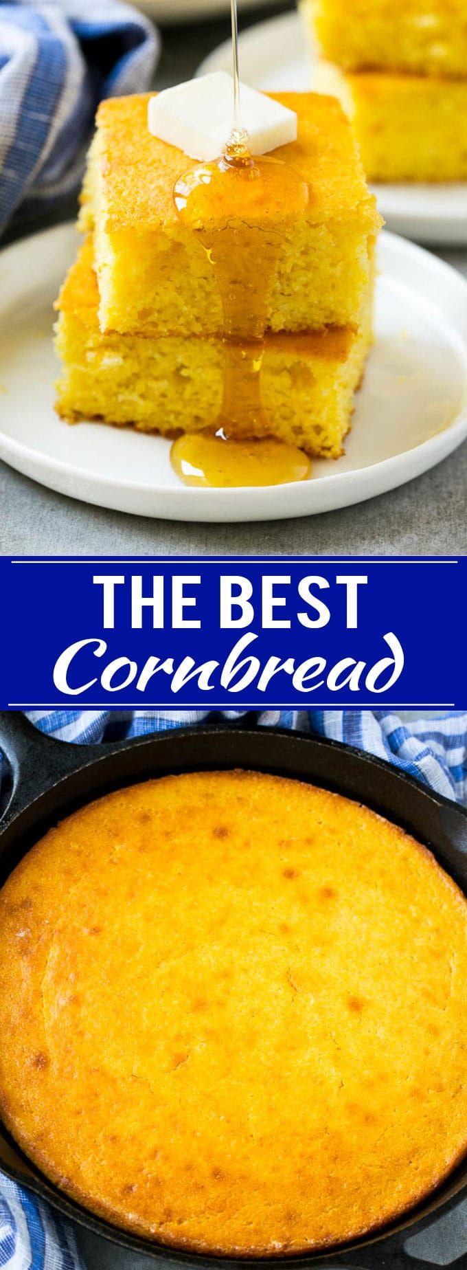 Honey Cornbread Recipe | Buttermilk Cornbread | Easy Cornbread | Homemade Cornbread | Cast Iron Cornbread
