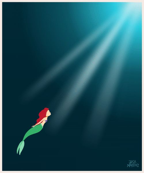 """""""Part of You World"""" Ariel - The Little Mermaid by Illustrator and Graphic Designer Jeca Martinez #4"""