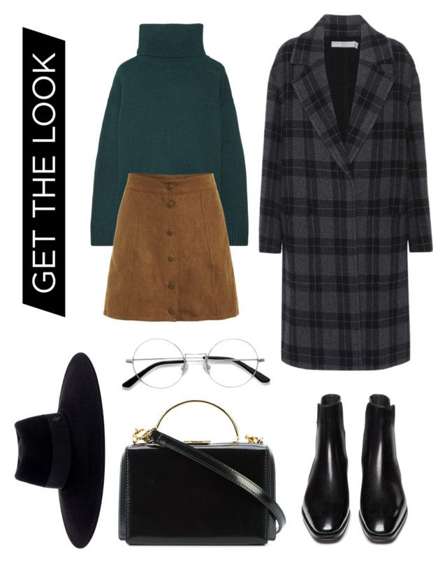"""""""Outfit"""" by trishsa on Polyvore featuring Prada, Vince, EyeBuyDirect.com, Mark Cross, Maison Michel and Winter"""