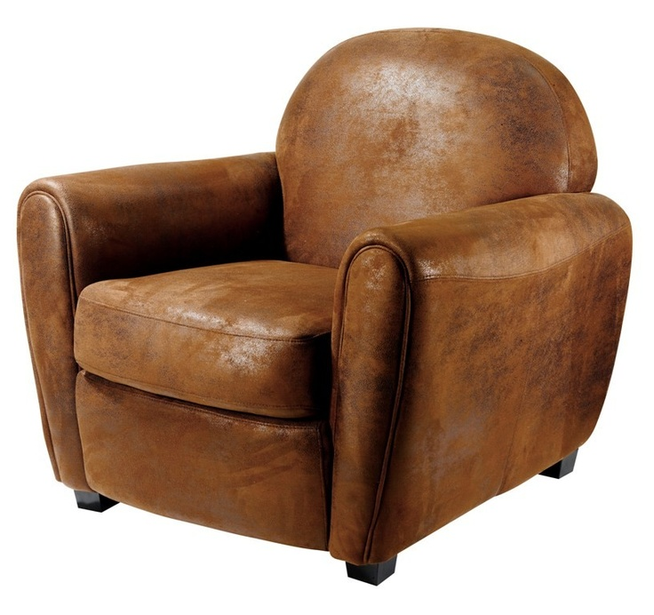 fauteuil club vintage marron want it living pinterest