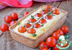 Киш с адыгейским сыром и помидорами черри