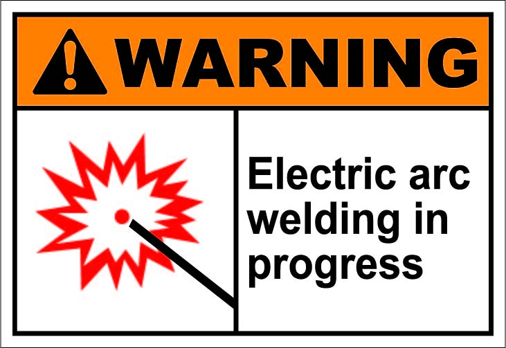 Electric arc welding in progress $1.64 #signs