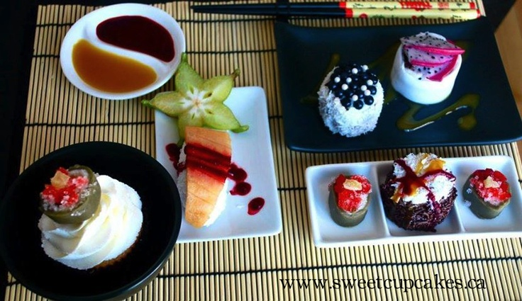 #dessert #sushi #sweet #cake YUM! starfruit chocolate vermicelli raspberry coulis