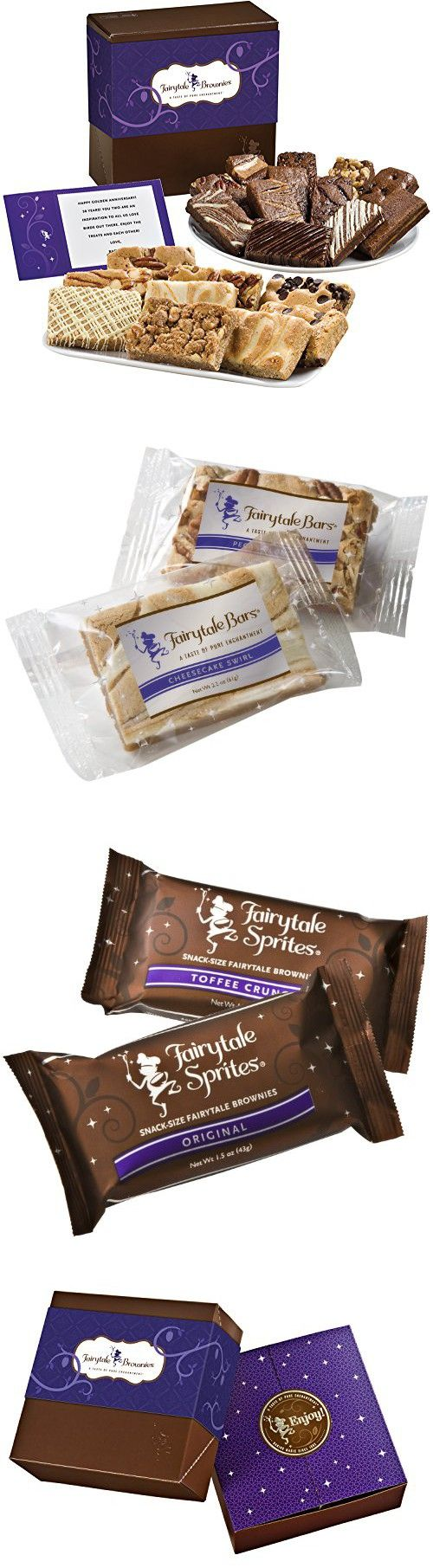 Fairytale Brownies Bar & Sprite Combo Gourmet Food Gift Basket Chocolate Box - 3 Inch x 1.5 Inch Snack-Size Brownies and 3 Inch x 2 Inch Blondie Bars - 21 Pieces