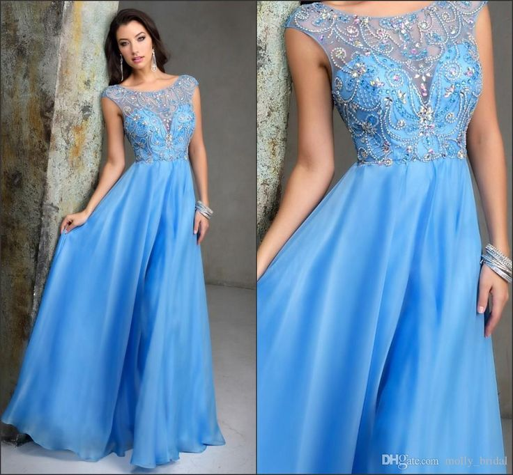 Modest 2016 Prom Dresses Fully Crystal Beading Beaded Sheer Short Sleeve Bateau See Though Back A Line Formal Evening Gowns Party Dress Long Long Prom Dresses Uk Long Prom Dresses Under 100 From Molly_bridal, $104.48| Dhgate.Com