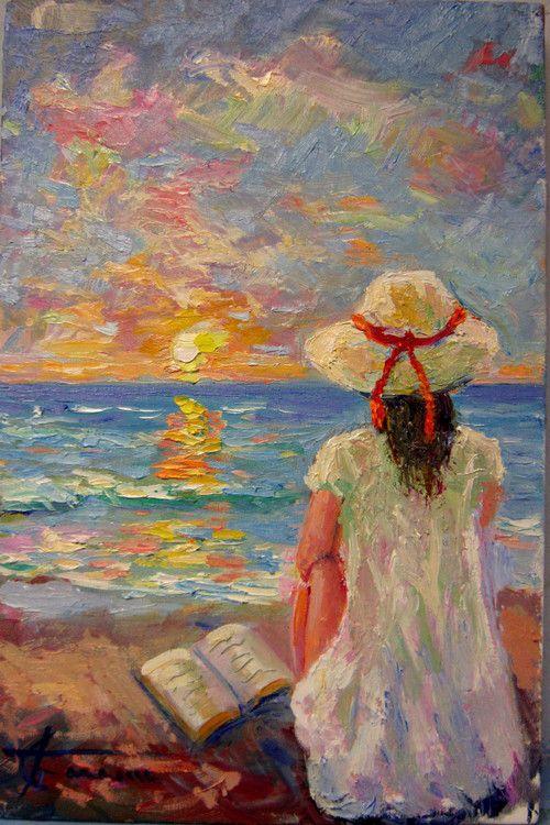 La poesia del mare olio su tela 30x20 codice 144 l for Paesaggi marini dipinti