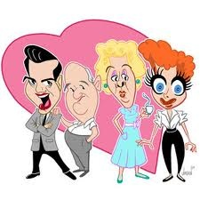 I Love Lucy caricatures