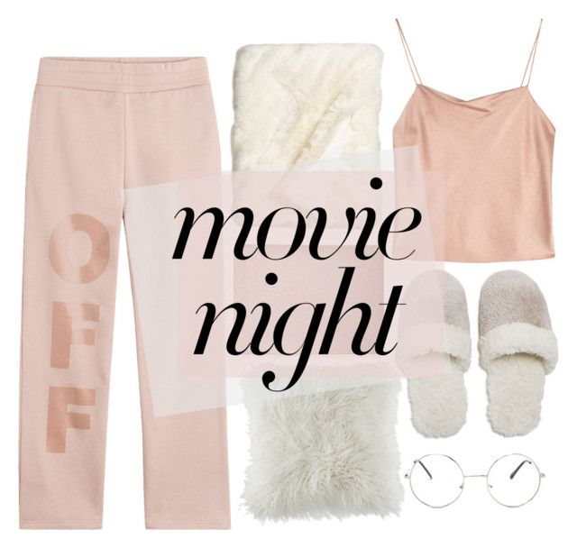 """Movie Night 🎥 🍿🎬🎞❤️"" by jessiebowness ❤ liked on Polyvore featuring Off-White, Alice + Olivia, BCBGeneration, Forever 21, Nordstrom, Natori and Nasty Gal"