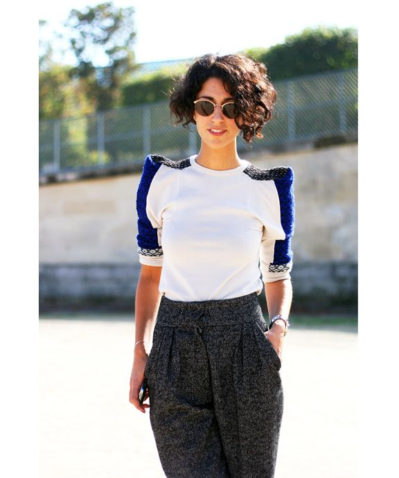 I'm completely enamoured with the personal style of Australian fashion retail consultant Yasmin Sewell. A fixture on all the top street fashion blogs, Sewell currently lives in London, maintains a blog at British Vogue and made the renowned department store Liberty of London what it is today.