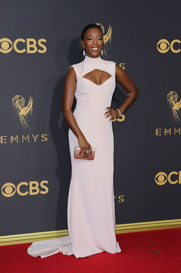 Emmys 2017 red carpet samira wiley a nominee for best supporting actress