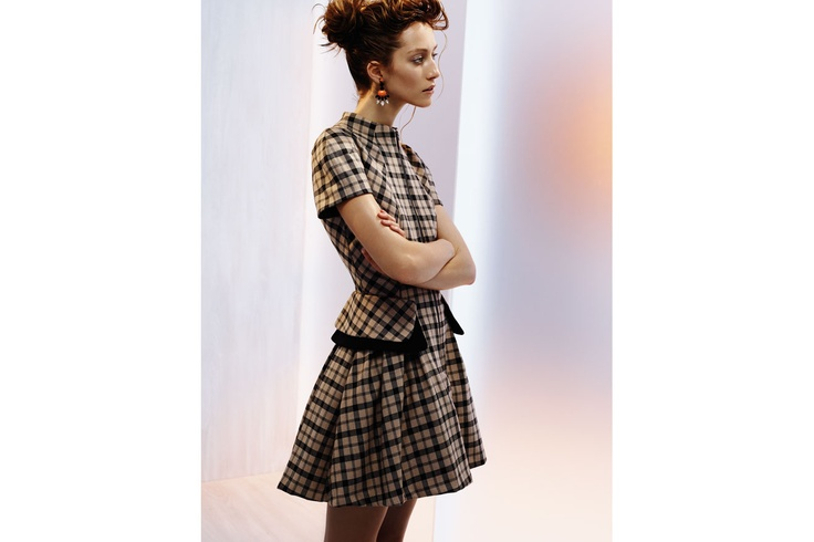 CUE: Mod Check Dress - $340.00