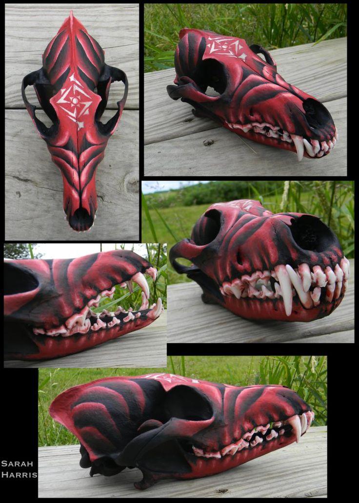 Demon Coyote Skull by Koeskull