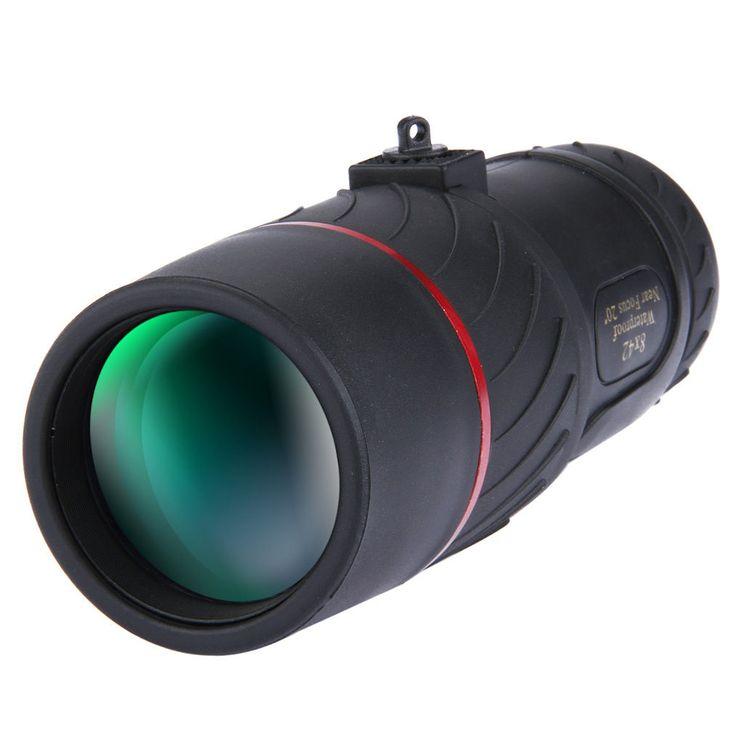 VISIONKING 8X42 Visión nocturna monocular No infrarrojo Telescopio óptico de alta definición Ojo Ocular Camping Viajes