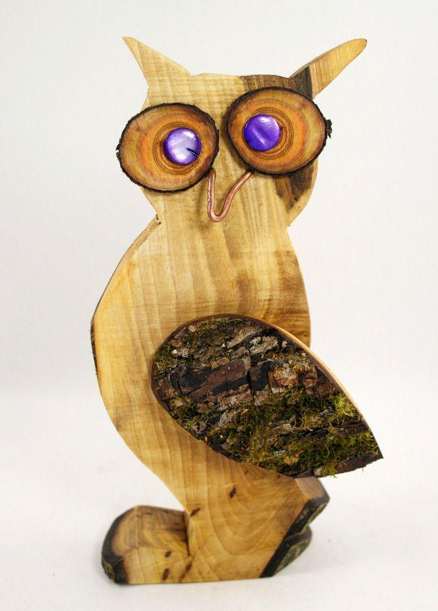 Dekoracja - Sowa, drewniana statua, rzeźba, dobre zaklęcie trafu - kawałek projektant przyrody wycięcie około