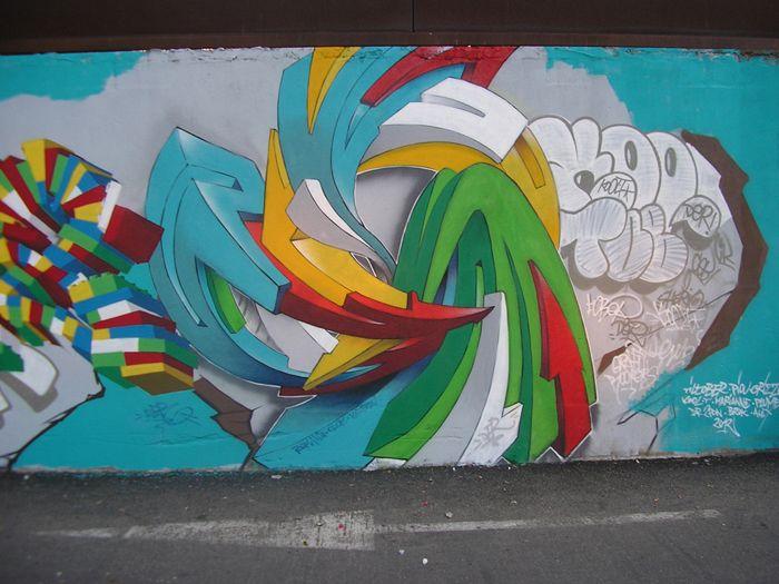 Street Art artist Der / Wall / Graffiti / Fac du Mirail, Toulouse 2012 France
