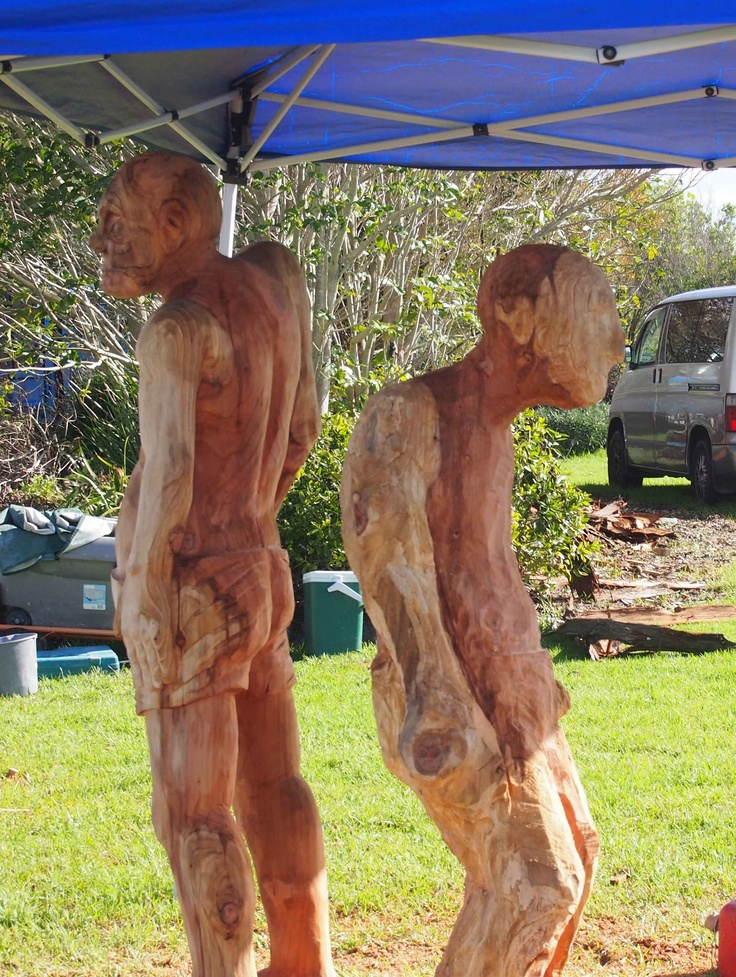 Chris Moore, Wood Sculpture at the Lake House 2013