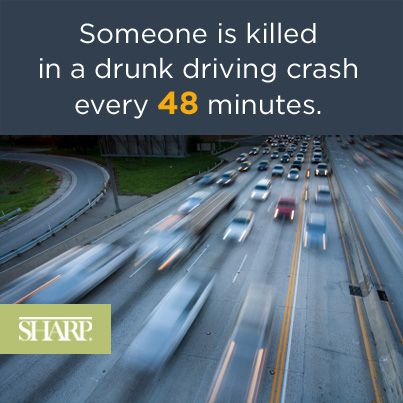 April is Alcohol Awareness Month. According to the CDC, every day, almost 30 people in the US die in a drunk driving crash. That's one death every 48 minutes. Learn about Sharp's substance abuse programs and services:   http://www.sharp.com/news/april-is-alcohol-awareness-month.cfm @Sharp HealthCare
