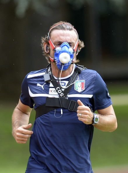 andrea pirlo in italy training session