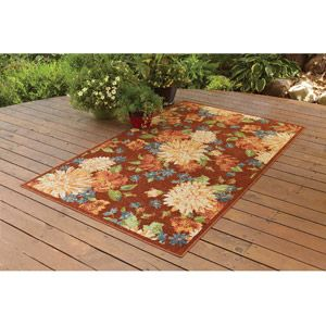 better homes and gardens indooroutdoor watercolor floral polyester area rug coral 5. beautiful ideas. Home Design Ideas