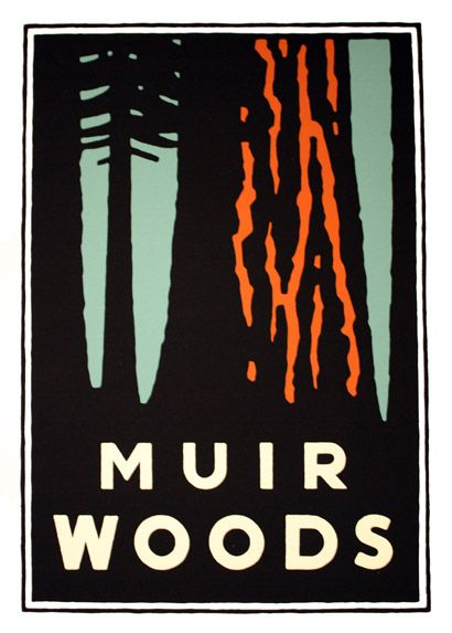 Saw this design today while visiting Muir Woods National Park and loved the simplicity of it!