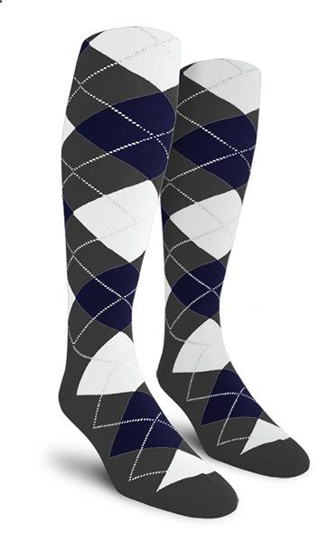 Charcoal/navy/white socks from Golf Knickers