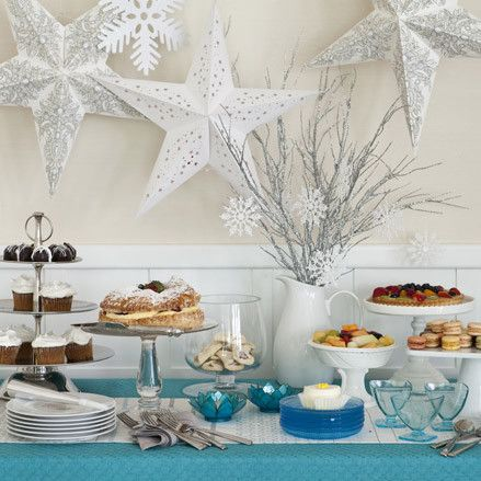 Make your Christmas or New Year's party the best on the block with this DIY winter dessert buffet idea! Perfect for holiday entertaining and as a compliment to your Christmas dining table. Display holiday cookies, foods, and drinks with ease. Click to find out how to recreate this look at home!