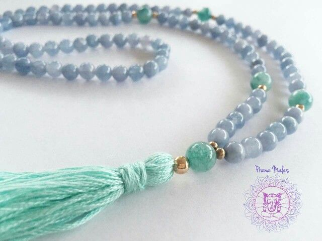 Mala necklace: Agua marina y Jade $16000