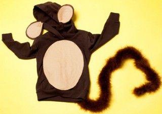 Disfraz casero para Carnaval: Mono