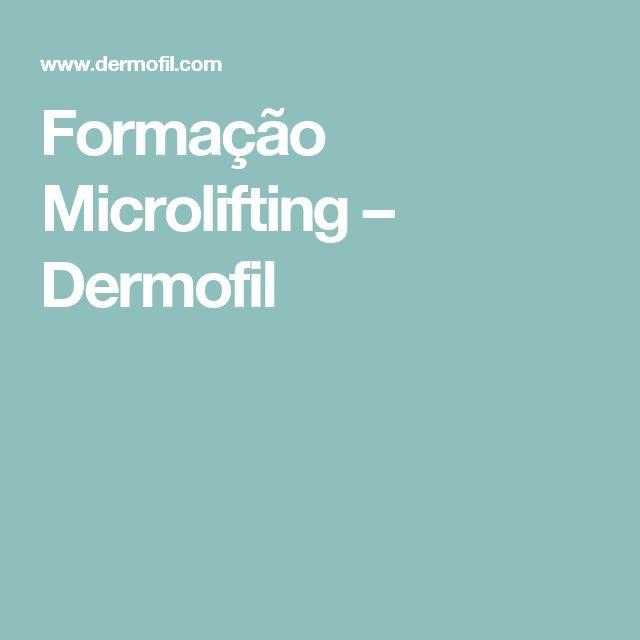 Formação Microlifting – Dermofil