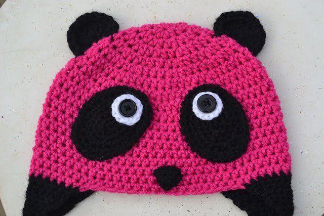 Pink Panda Beanie for Kids - Free Crochet Pattern from Crochet in Color